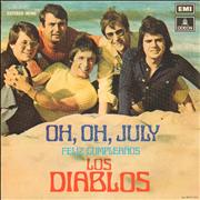 Click here for more info about 'Los Diablos - Oh, Oh, July + Sleeve'
