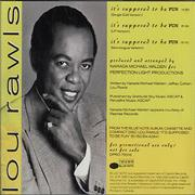 Click here for more info about 'Lou Rawls - It's Supposed To Be Fun'