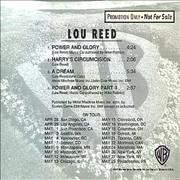 Click here for more info about 'Lou Reed - Power & Glory Sampler'
