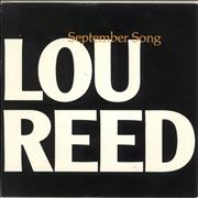Click here for more info about 'Lou Reed - September Song - 'A' Label + Sleeve'