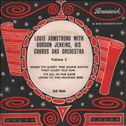 Click here for more info about 'Louis Armstrong - Louis Armstrong With Gordon Jenkins, His Chorus And Orchestra Volume 2 EP'