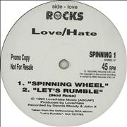 Click here for more info about 'Love/Hate - Spinning Wheel'
