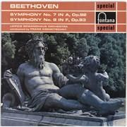 Ludwig Van Beethoven Symphony No. 7 in A, Op.92 / Symphony No. 8 in F, Op.93 UK vinyl LP