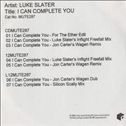Click here for more info about 'Luke Slater - I Can Complete You'