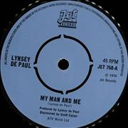 Click here for more info about 'Lynsey De Paul - My Man And Me - Four Prong Centre'