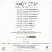 Click here for more info about 'Macy Gray - Beauty In The World - Dance Mixes'