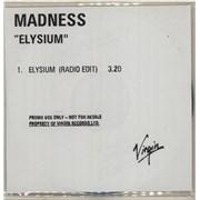Madness Elysium - Radio Edit UK CD-R acetate Promo