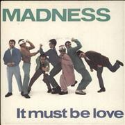 """Madness It Must Be Love - A Label UK 7"""" vinyl Promo"""