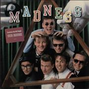 Madness Madness - gold promo stamp USA vinyl LP