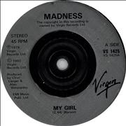 "Madness My Girl UK 7"" vinyl"