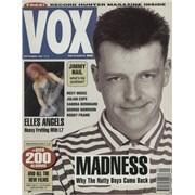 Madness Vox - September 1992 UK magazine