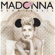 "Madonna Dear Jessie - Yellow Labels & Paper Sleeve UK 7"" vinyl"