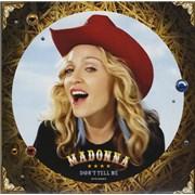 "Madonna Don't Tell Me - Blue Vinyl UK 12"" vinyl"