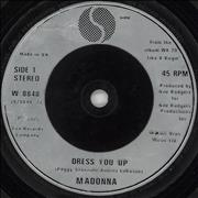 Click here for more info about 'Madonna - Dress You Up - Injection label'