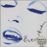 Click here for more info about 'Madonna - Erotica - Stickered'