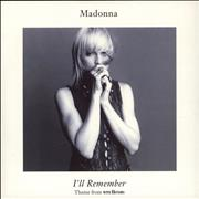 Click here for more info about 'Madonna - I'll Remember - Solid + Glossy Sleeve'