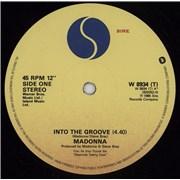"Madonna Into The Groove UK 12"" vinyl"