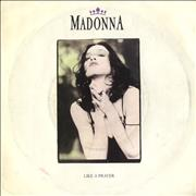 "Madonna Like A Prayer - Yellow Labels & Paper Sleeve UK 7"" vinyl"