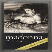 Click here for more info about 'Madonna - Like A Virgin - Light Grey Blue Print'