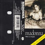 Madonna Like A Virgin - Silver Paper Labels UK cassette album