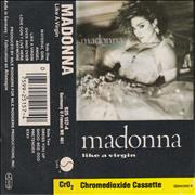 Click here for more info about 'Madonna - Like A Virgin - White Labels Red Text & Black Shell'