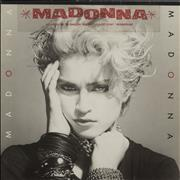Madonna Madonna - Stickered Sleeve VG Germany vinyl LP