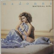 "Madonna Material Girl - Paper Label & Paper Sleeve UK 7"" vinyl"