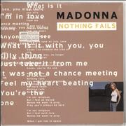 Click here for more info about 'Madonna - Nothing Fails - Sealed'