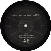 "Madonna Nothing Really Matters UK 12"" vinyl Promo"