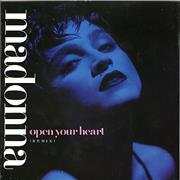 Click here for more info about 'Madonna - Open Your Heart - Injection Label & Glossy Sleeve'