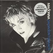 Click here for more info about 'Madonna - Papa Don't Preach - Blue Titles'