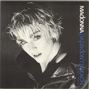 Click here for more info about 'Madonna - Papa Don't Preach - Blue Titles + Poster'