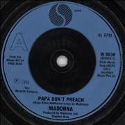 Click here for more info about 'Madonna - Papa Don't Preach - Blue injection'