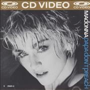 Click here for more info about 'Papa Don't Preach - NTSC CD-video'