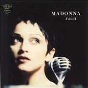 Click here for more info about 'Madonna - Rain - Paper Label & Picture Sleeve'