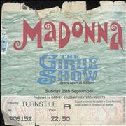 Click here for more info about 'Madonna - The Girlie Show - Pair of Ticket Stubs'