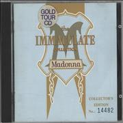 Click here for more info about 'The Immaculate Collection - Gold Tour CD - EX'