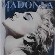 Madonna True Blue + Poster / EX UK vinyl LP