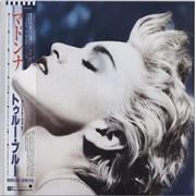 Madonna True Blue + Poster & Outer Bag Japan vinyl LP