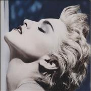 Click here for more info about 'Madonna - True Blue + Poster - Ex'