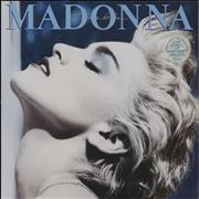 Click here for more info about 'Madonna - True Blue + Poster - Stickered sleeve - EX'