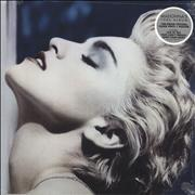 Click here for more info about 'Madonna - True Blue - 180gm Clear Vinyl + Poster - Sealed'