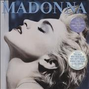 Click here for more info about 'Madonna - True Blue - 2 Stickered sleeve + Poster / EX'