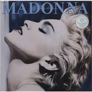 Madonna True Blue - 2-song stickered UK vinyl LP