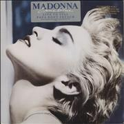 Madonna True Blue - Gold promo stamped - EX USA vinyl LP