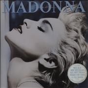 Click here for more info about 'Madonna - True Blue - 5 track stickered - EX'