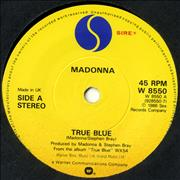 Click here for more info about 'Madonna - True Blue - Yellow Label'