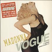 Click here for more info about 'Madonna - Vogue + X-rated Poster + Stickered sleeve'
