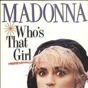 "Madonna Who's That Girl - Inj - Paper Sleeve UK 7"" vinyl"