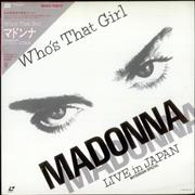 Click here for more info about 'Madonna - Who's That Girl - Live In Japan + Obi & Booklet'